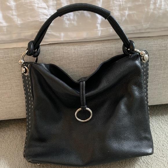 BCBG Max Azria Signature Handbag, Black, Large.